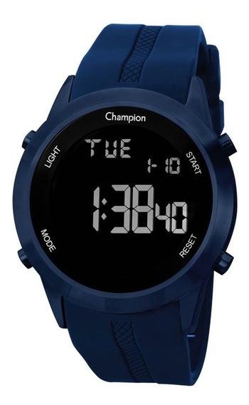 Relógio Champion Original Digital Azul Silicone Ch40259a