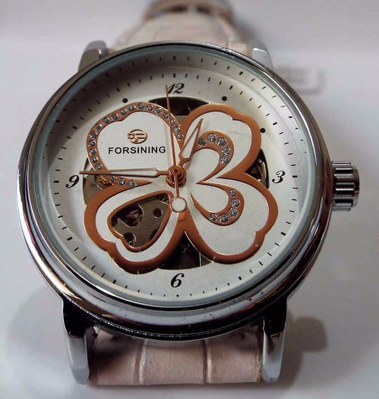 Relógio Feminino Forsining Floral Mecânico