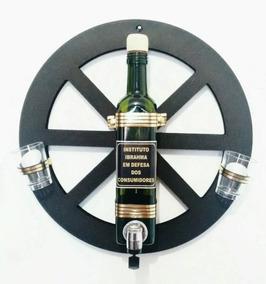 Roda De Carroça Pingômetro Com 2 Copinhos / Bar / Cachaça