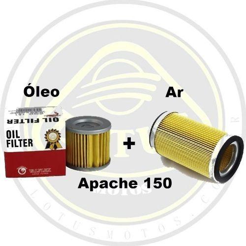 Filtro Elemento De Ar + Filtro De Óleo Dafra Apache 150 Valflex 165valflex / 205valflex Com Nota