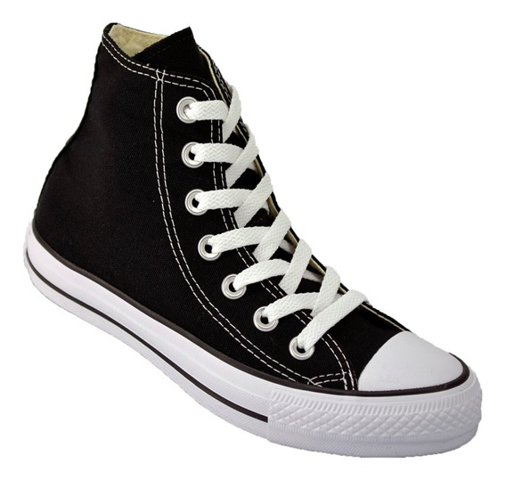 Zapatilla Botita Converse All Star Hi Lona Original Ngo/roj