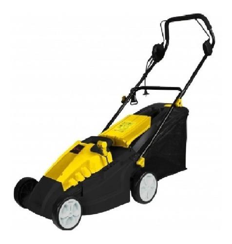 Cortadora de pasto eléctrica Fligman LM140038505 con bolsa recolectora 1400W amarilla y negra 230V - 240V