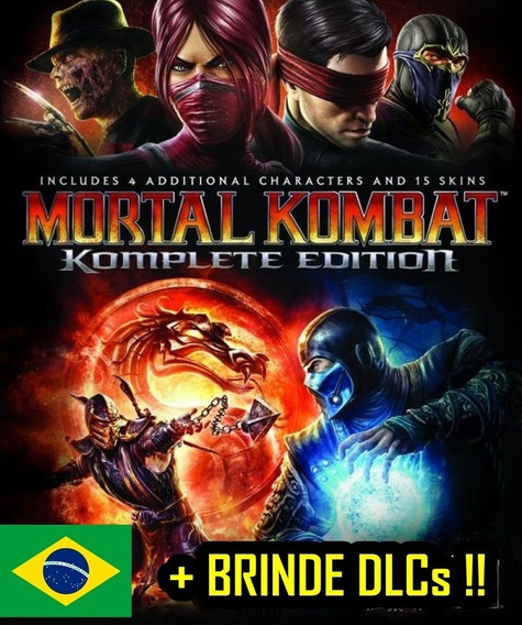 Mortal Kombat 9 + Dlcs Ps3 Luta Leg. Portugues Digital Luta