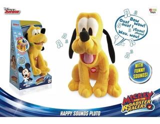 Mickey Pluto Disney Peluche 30cm Happy Sounds 99159 Bigshop