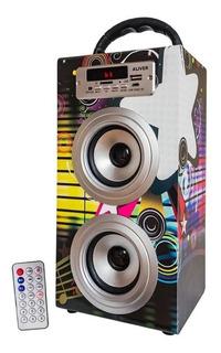 Parlante Portátil Bluetooth Aliver Mp3 Usb Aux Led Control R