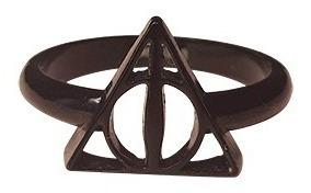 Anel Relíquias Da Morte Preto Harry Potter Loja Oficial