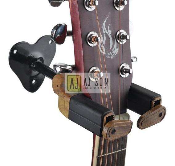 Suporte De Parede C/ Trava P/ Instrumentos De Corda,violão