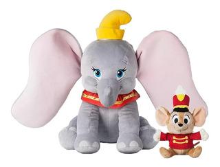 Disney Store Dumbo Peluche 54 Cm Y Timothy Nuevo!!