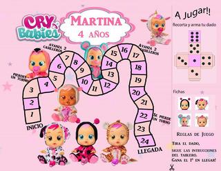 Recordatorio Souvenir Cumpleaños Cry Babies Para Imprimir