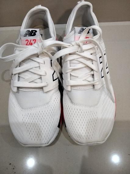 Zapatillas New Balance 247 Blancas Cómo Nuevas Hermoso Model