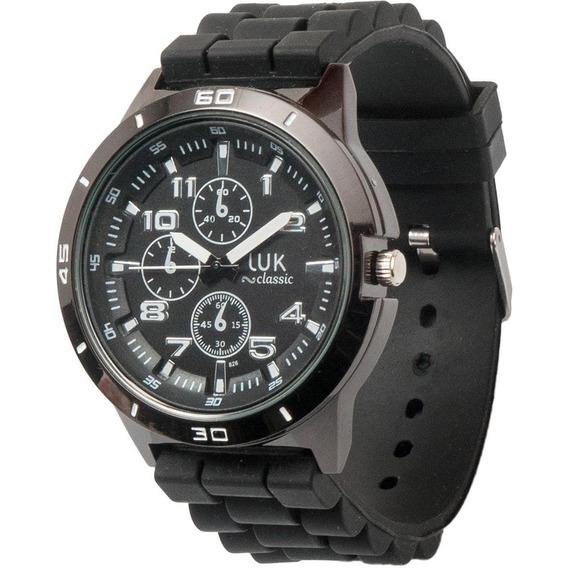 Relógio Masculino Pulseira Silicone Luk Gs1elwj4973