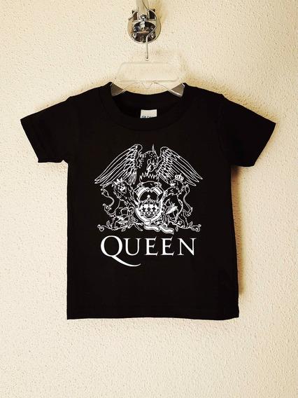 Queen Logo Aguila Polera Niño Rock Clásico Abominatron