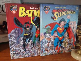 Look And Find - Batman - Superman - Dc Comics - Infantil