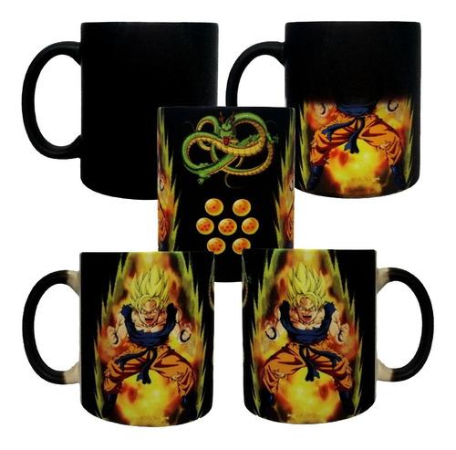 Taza Mágica Goku Kaioken Dragón Ball Z Los Q Más Vendemos