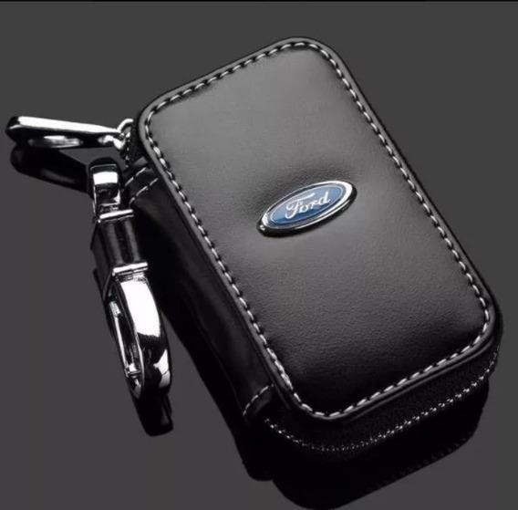 Capa Case Em Couro Porta Chave Chaveiro Para Carro Ford