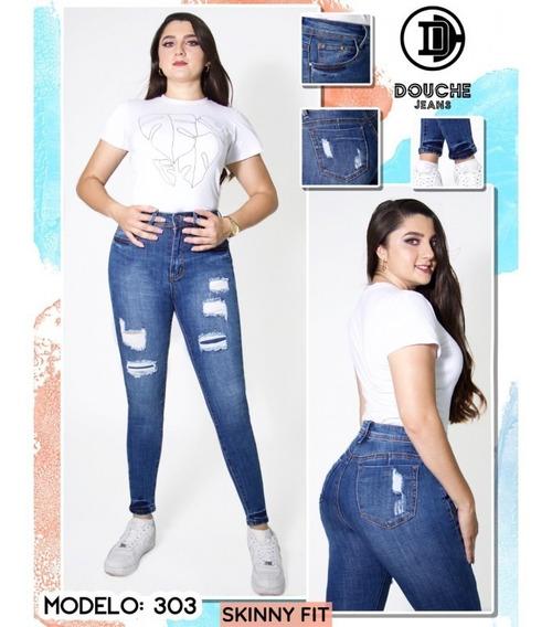 Pantalon Jcjq Mezclilla Roto Dama Pantalones Y Jeans Para Mujer En Mercado Libre Mexico