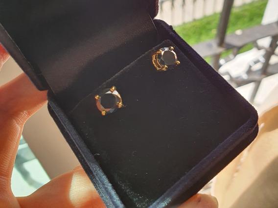 Aretes De Moissanita Diamante Negro 3.10 Cts