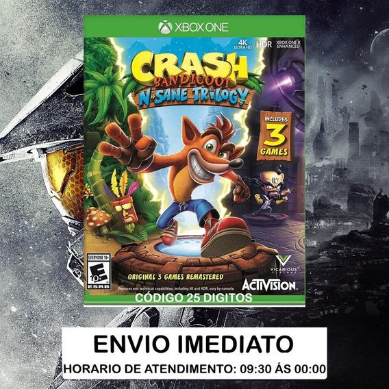 Crash Bandicoot N. Sane Trilogy Xbox One - Código 25 Dígitos