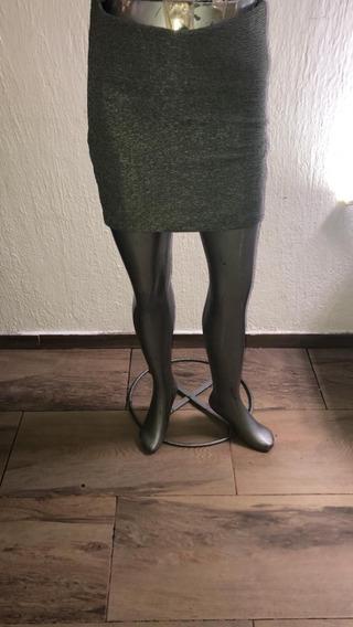 Falda Corrugada Gris