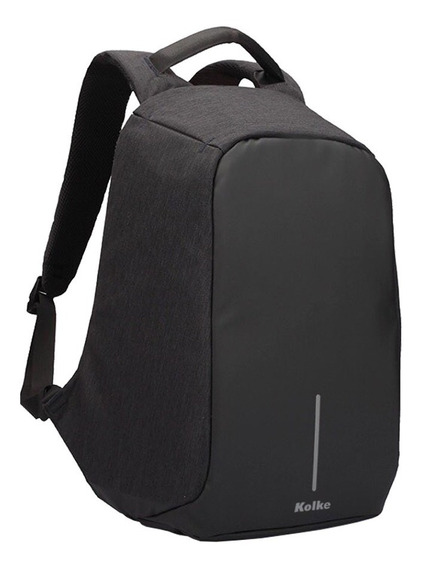 Mochila Antirrobo Porta Notebook Carga Usb Impermeable Smart