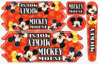 Adesivos Mickey Mouse P/ Bike 12/14/16 Envernizado Promoção*