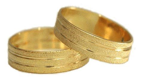 Alianças Banhadas A Ouro (10, 16)