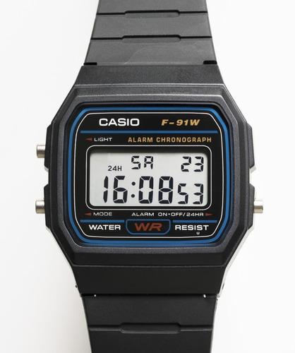 Reloj Casio Unisex F-91w-1cr Vintage Digital Original Gtía.