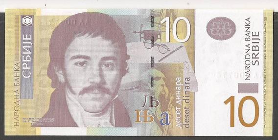 Serbia 10 Dinara Billete Nuevo Sin Circular