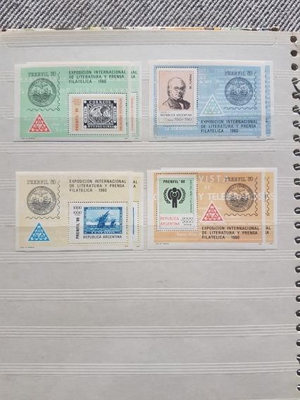 Argentina : Lote 4 Hb (gj Nº 38,39,40.41) Año 1980