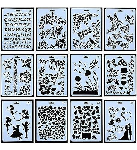 10 Piezas Dibujo Pintura Plantillas Plantilla Plantilla Jueg