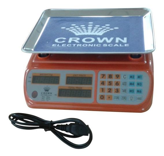 Peso Electrónico Balanza Digital Charcutería 38kg Bagc