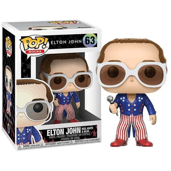 Funko Pop Rocks Elton John - Red - White And Blue