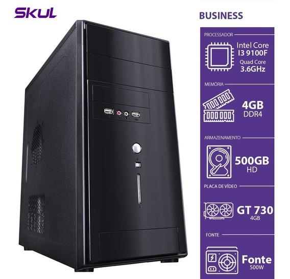 Computador Business B300 - I3-9100f 3.6ghz 4gb Ddr4 Hd 500gb