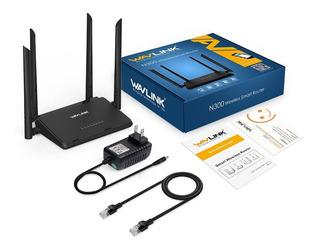 Router Wavlink N300 4 Antenas Rompemuros 5dbi Rout Repetidor
