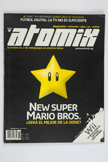 Revista Atomix #76 New Super Mario Bros (portada Star)