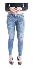 Pantalón Denizen® Mujer Azul Super Skinny Hermosa Den