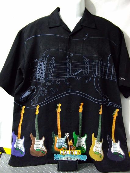 Camisa Fender Guitars Talla M Original