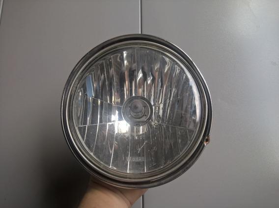 Farol Com Aro E Lampada Para Yamaha Ybr 125 Anos 2001 A 2008