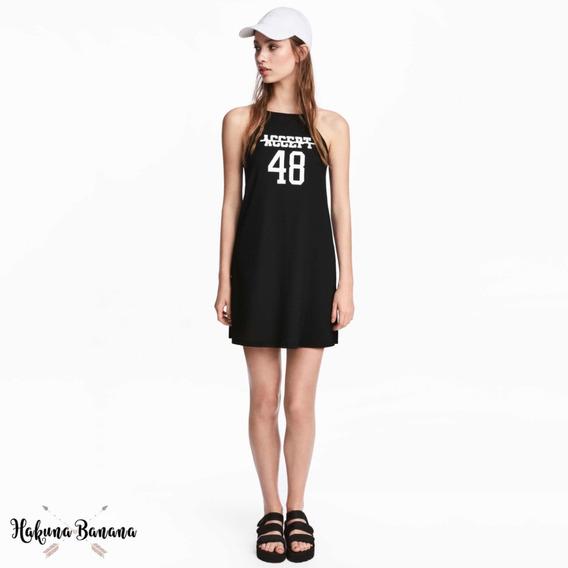 Vestido Hym Halter Negro Importado Mujer