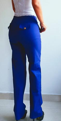 Pantalon Azul Olan De Lino Marca Orangecollection Mercado Libre
