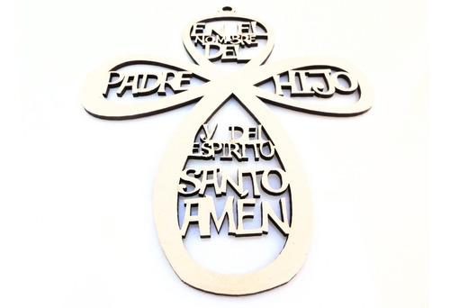 Imagen 1 de 5 de Cruz Oración 20cm - Mdf / Fibrofacil
