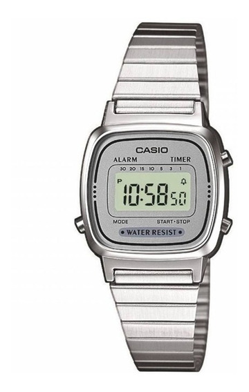 Relógio Casio Mini Feminino Vintage La670wa-7df Retro + Cx