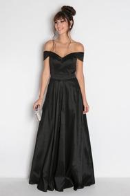 Vestido Feminino Festa Formatura Casamento Preto Longo