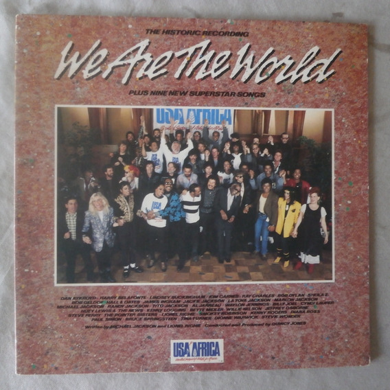 Lp We Are The World 1985 Usa For Africa, Vinil Capa Dupla