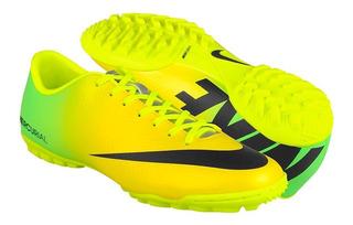 Tenis Fútbol Nike Para Hombre Amarillo Con Negro 555615703