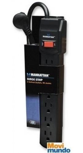 Barra Multicontacto Con Proteccion Manhattan 6 Contactos /v