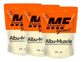 3x Albumina Albu Muscle 450g - Muscle Full