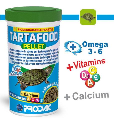 Imagen 1 de 4 de Alimento Para Tortugas Acuáticas Bebés Prodac Tartafood 75g