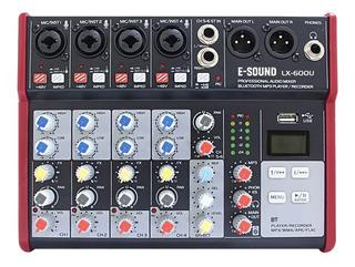 Consola De Sonido E-sound Lx-600u