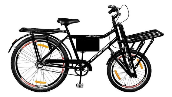 Bicicleta Aro 26 Max Cargo A-36 3v Nexus Preto Master Bike